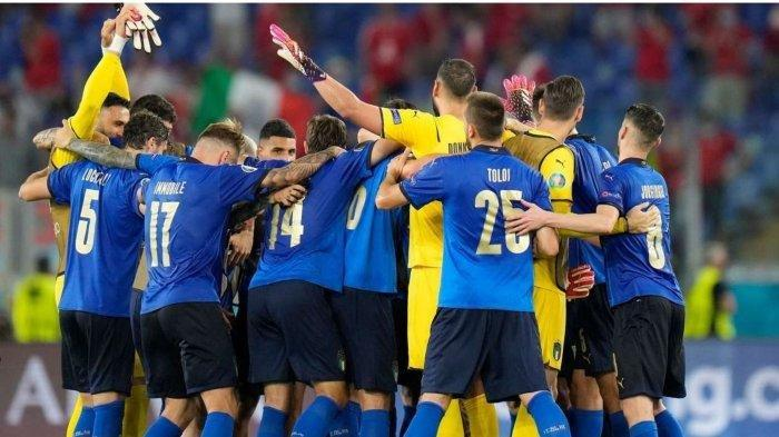 Timnas Italia Kunci Kemenangan di Grup A Lolos 16 Besar