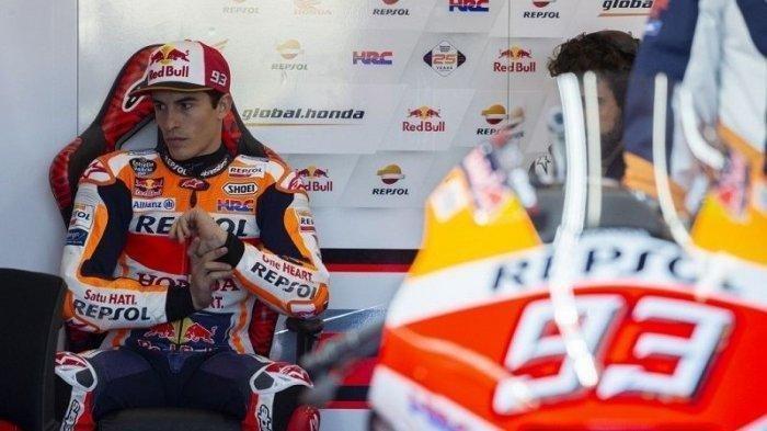 Lintasan Basah Sejumlah Pebalap MotoGP Perancis Tergelincir, Marquez Unjuk Gigi  Dan Tercepat