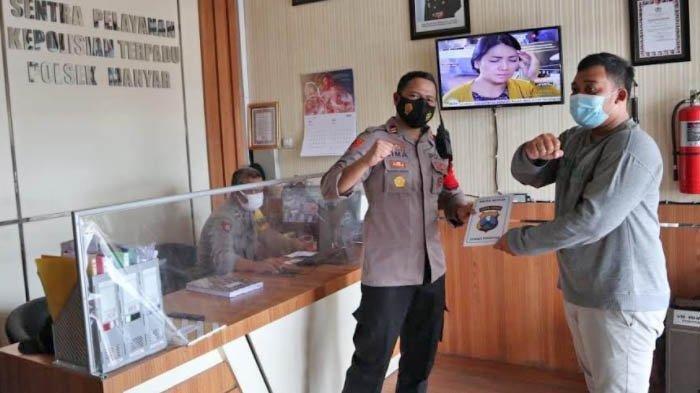Satpam Berhasil Tangkap Pencuri Motor, Kapolsek Manyar Apresiasi Berikan Penghargaan
