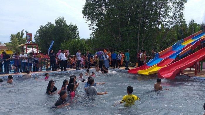 Waterboom Sungai Manggar, Destinasi Baru Untuk Dikunjungi Mengisi Liburan di Belitung Timur