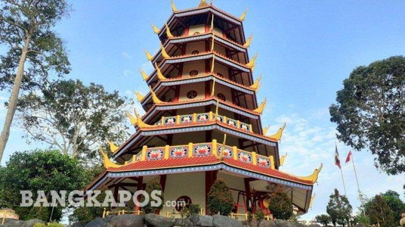 Bukit Pagoda Nusantara di Bangka, Menyuguhkan Pemandangan Alam yang Indah dan Asri