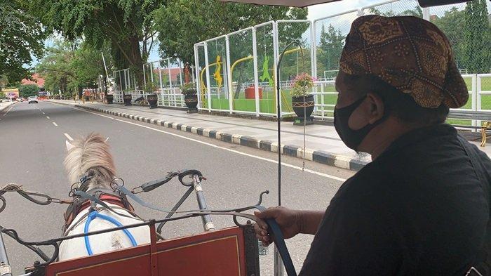 Naik Delman keliling taman Van der Pijl Banjarbaru dan lapangan Murjani Banjarbaru.