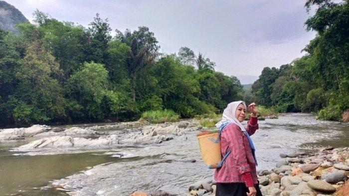 Pesona Alam Desa Nateh Kabupaten HST,Wisata Sungai Batu Balah Unik Jadi Daya Tarik Wisatawan