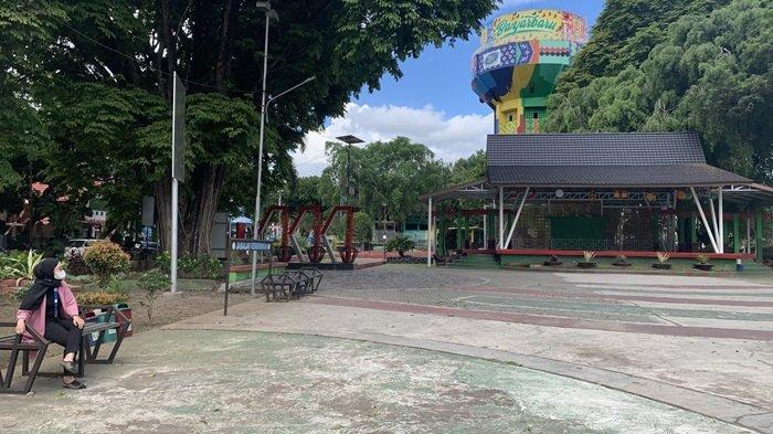 Wisata ke Taman Van der Pijl Banjarbaru, Kondisi Terkini Suasana Lengang Masa PPKM Kota Banjarbaru