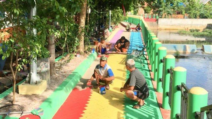 Fasilitas Terus  Ditambah untuk Bikin Nyaman Pengunjung Kampung Pelangi Banjarbaru