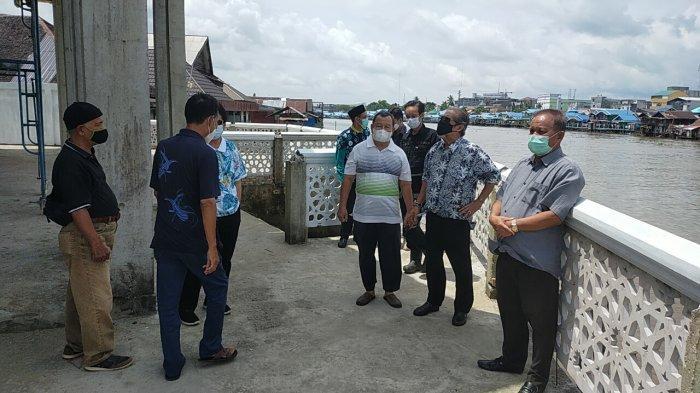Wisata Kalsel Religi Masjid Terapung Ibnu Arsadi Sungai Jingah Banjarmasin Masih Tahap Pembangunan