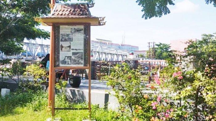 Di Lokasi Siring Bekantan Banjarmasin Ada Monumen yang Menceritakan Sejarah Jembatan Dewi