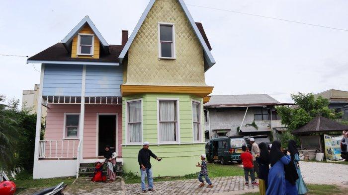 Inilah Up House di Banjarmasin yang Dibangun dari Inspirasi Film Animasi Disney