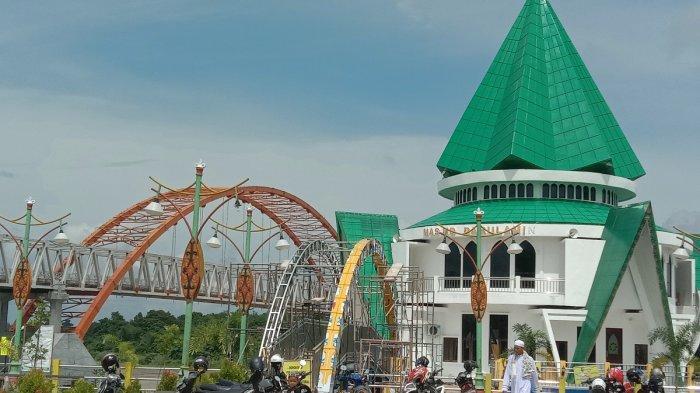 Bangunannya Unik, Masjid Darul Amin Dibangun Sebelum Ada Taman Pasuk Kameloh Palangkaraya