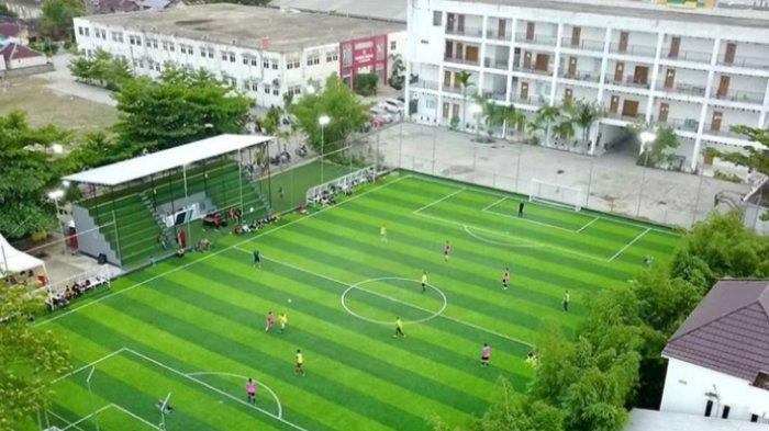 Hanya di Banjarmasin, Lapangan Mini Sepakbola Berstandar FIFA, Bisa untuk Rekreasi Bersama Keluarga