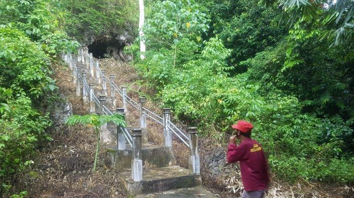 Jalan Beton Menuju Gua Bramban Menandakan Objek Wisata Dapat Sentuhan Pemkab Tapin