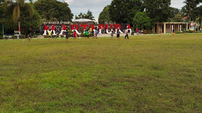 Wisata Kalsel, Pagi Hari Terlebih Akhir Pekan di Taman CBS Martapura Banyak Warga Berolahraga Santai