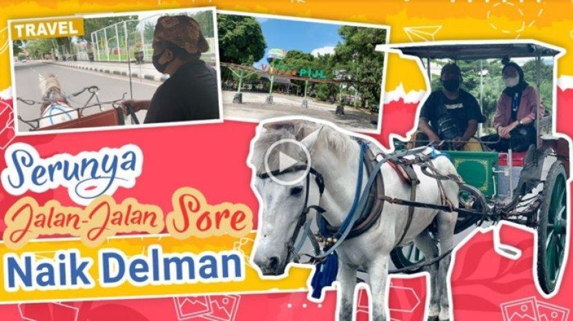 VIDEO Serunya Naik Delman Keliling Taman Van der Pijl dan Lapangan Murjani Banjarbaru