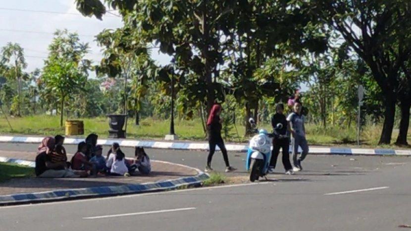 Senangnya Berpeluh Keringat Keliling Bundaran Gubernuran Banjarbaru