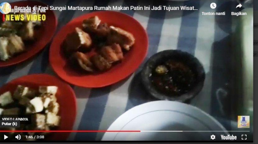 VIDEO: Rumah Makan Patin Pinggir Sungai, Wisata Kuliner Khas Banjarmasin