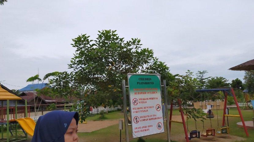 Pengunjung Taman Palindangan Sehati Kandangan Dilarang Merokok, Anak Berkebutuhan Khusus Diakomodasi