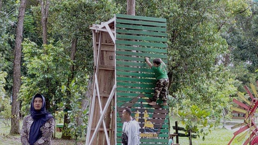 Tarif Wahana Outbond di Hutan Kantor Dishut Kalteng Murah, Cukup Bayar Segini