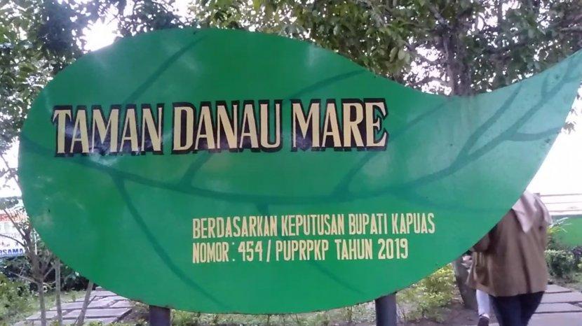 Nyamannya Bersantai di Wisata Kalteng Taman Danau Mare Kawasan KP3 Kapuas Kalimantan Tengah