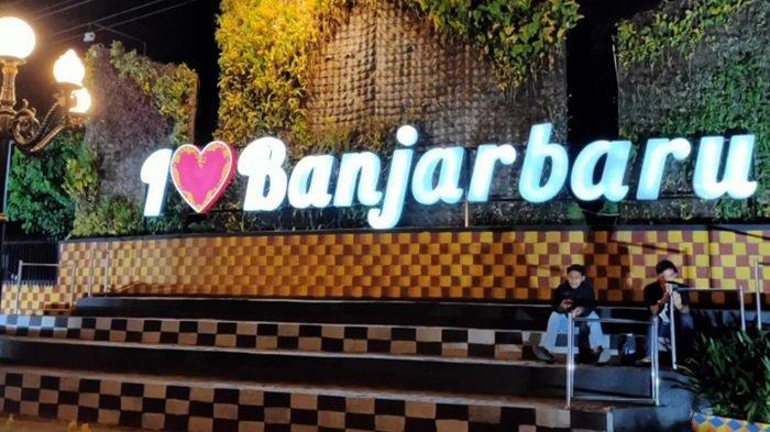 Taman Waterfall Simpang Empat Banjarbaru Manfaatkan Sisa Bongkaran Taman Van Der Pijl