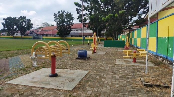 Lapangan Pahlawan Amuntai Kabupaten HSU, Berada di Pusat Kota Dilengkapi Sarana Olahraga Outdoor