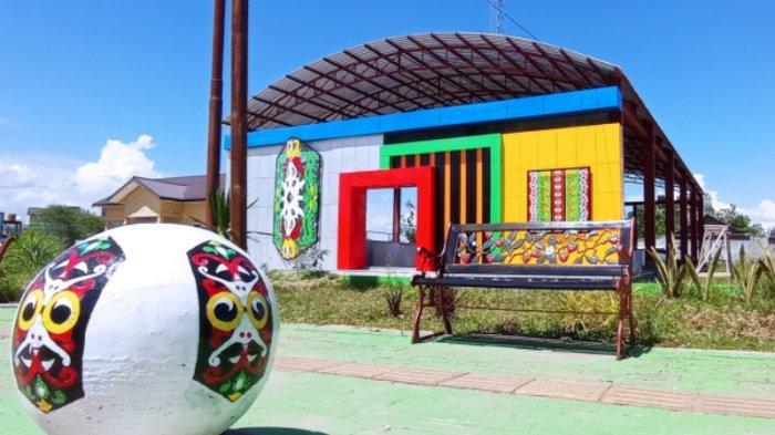 KalselPedia - Bangunan Baru Pasar Harian Mabuun di Kecamatan Murung Pudak Kabupaten Tabalong