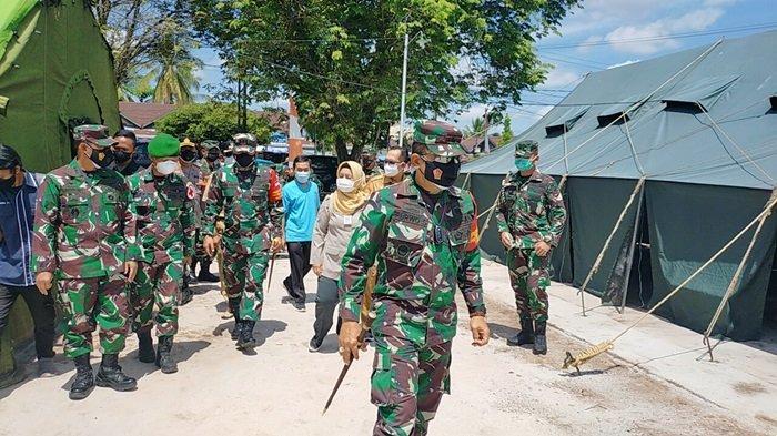 RS TNI AD Palangkaraya, Korem 102 Panju Panjung Dirikan Tenda Lapangan Tampung Pasien Covid-19
