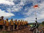 Anggota-Bandtrac-upacara-bendera-peringati-HUT-ke-76-Kemerdekaan-RI-di-Bukit-Joglo-Kiram.jpg