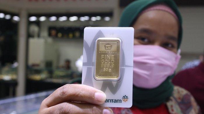 Turun Lagi, Harga Emas Batangan Antam Hari Senin (20/9/2021) Ini Jadi Rp 917.000 per Gram
