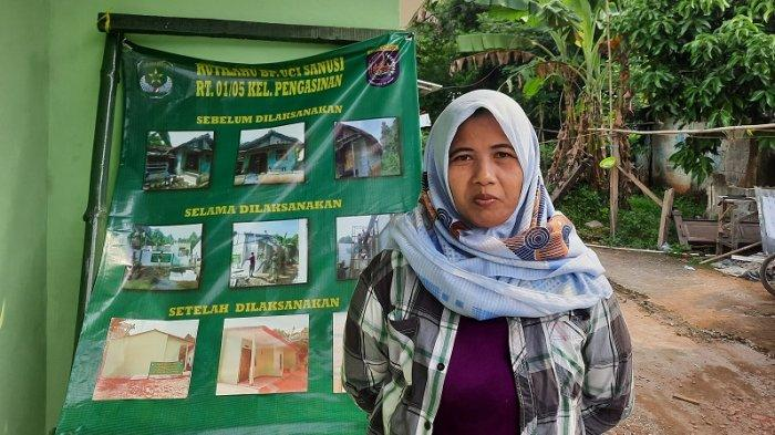 Rumahnya Hampir Roboh, Neneng Senang dapat Bantuan Bedah Rumah dari Kodim 0508 Depok