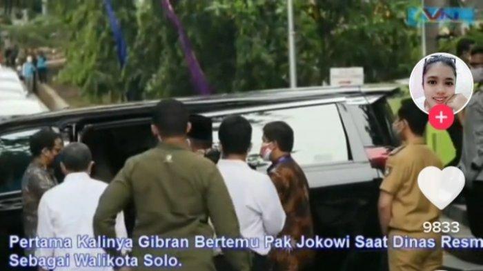 MOMEN Gibran Rakabuming SADAR POSISI Saat Bertemu Presiden Jokowi Disela ACARA DINAS