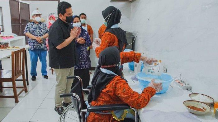 Erick Thohir Apresiasi PLN Dalam Mendorong Kemandirian dan Peluang kerja Bagi penyandang Disabilitas