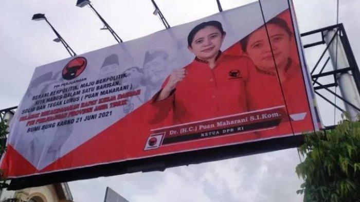 Pencarian Pelaku Vandalisme Baliho Puan Maharani di Blitar Terkendala, Polisi: 'Tak Ada Kamera CCTV'