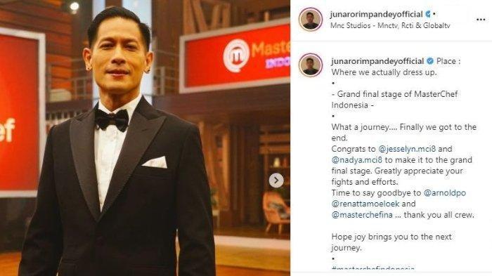 Chef Juna Isyaratkan Pamit sebagai Juri MasterChef Indonesia, Titip Pesan ke Chef Arnold & Renatta