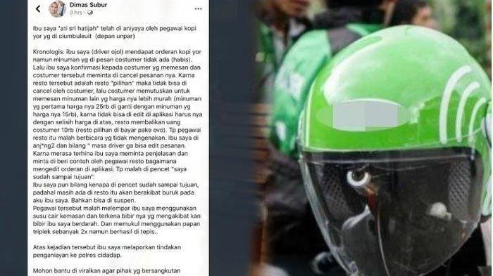 2 Bukti Ditemukan, Polisi Bekuk Pegawai Kedai Kopi Lempar Susu ke Driver Ojol sampai Berdarah