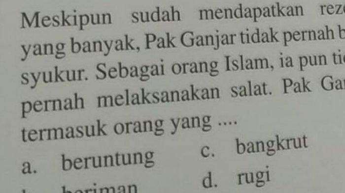 Buntut Soal SD 'Pak Ganjar Tak Salat', Forum Wali Murid Lapor Polisi: Upaya Racuni Pendidikan Anak