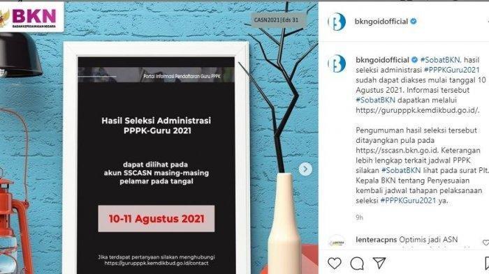Tak Cuma di SSCASN, Pengumuman Seleksi Administrasi PPPK Guru Hari Ini di gurupppk.kemendikbud.go.id