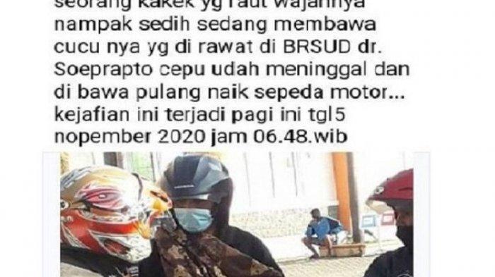 POPULER Kakek Gendong Jasad Cucu Pakai Jarik & Naik Motor, Tolak Tawaran Ambulans, RS Juga Kaget
