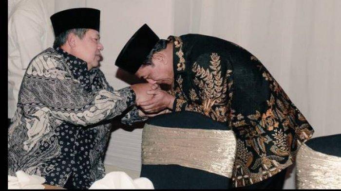 Moeldoko Ditunjuk Jadi Ketua Umum Baru di KLB Demokrat, Fotonya Cium Tangan SBY Viral di Medsos