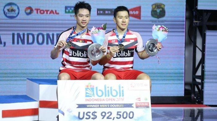 China Open 2019, Marcus/Kevin Langsung Berhadapan dengan Runner Up Kejuaraan Dunia 2019