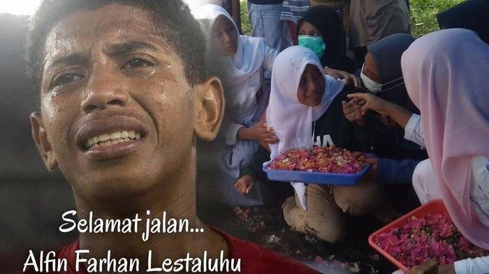 Suasana Pemakaman Alfin Lestaluhu, Ribuan Warga Maluku Mengantar, Air Mata Keluarga Tumpah di Pusara