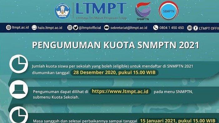HASIL SNMPTN 2021 Hari Ini Pukul 15.00 WIB di https://pengumuman-snmptn.ltmpt.ac.id/