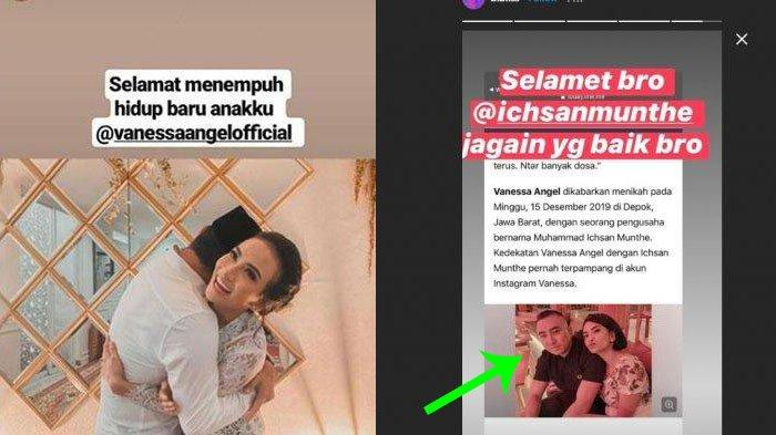 Bibi Ardiansyah Unggah Foto Ichsan Munthe Diduga Suami Vanessa Angel 'Selamat Mas, Jagain yang Baik'