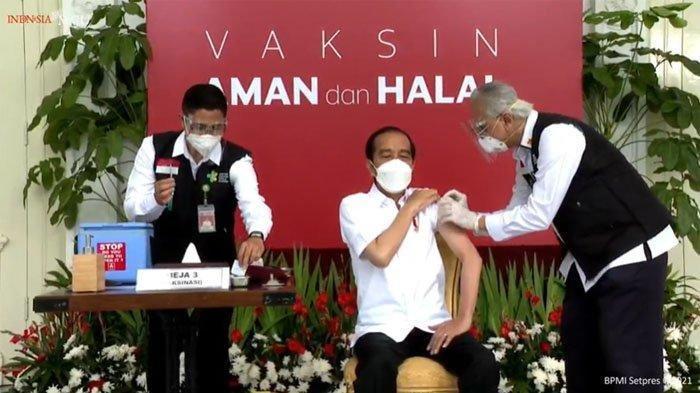 Live Streaming Vaksinasi Jokowi Tahap 2 Pagi Ini, Presiden Akan Disuntik Dosis Kedua Vaksin Sinovac