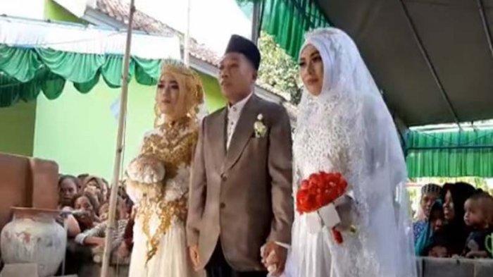 POPULER Pernikahan Pria dengan 2 Perempuan Sekaligus dengan Mahar Sama, Pengantin Wanita Sepupuan