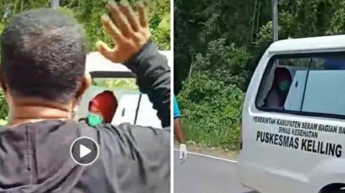 Viral Video Warga Menangis Lepas Bidan Desa Terpapar Corona Dijemput Ambulans, Suara Bergetar Doakan