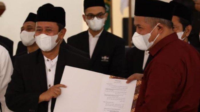 KH Abu Bakar Abdul Jalil Dilantik Jadi Ketua PCNU Kota Kediri dan Janji Dukung Pemkot Kediri