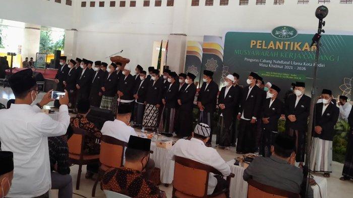 pelantikan pengurus PCNU Kota Kediri