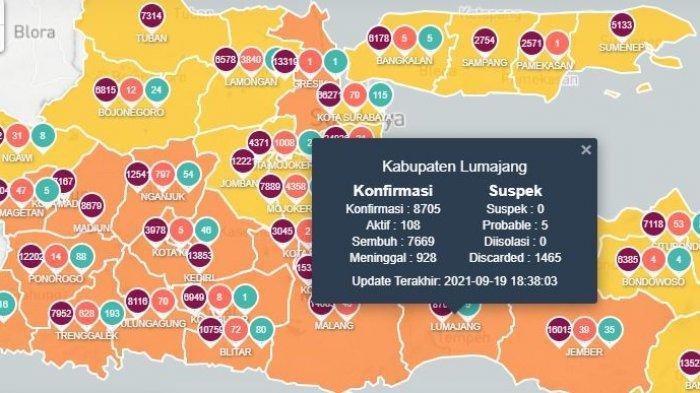 Update Covid-19 Jawa Timur Hari Ini 20 September: Lumajang PPKM Level 2 & Gunung Semeru Akan Dibuka
