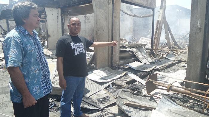 250 Kios di Pasar Besar Palangkaraya Terbakar