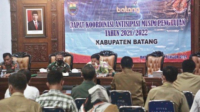 BPBD Batang Koordinasi Mitigasi Bencana di Musim Penghujan